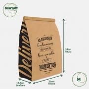 Saco Kraft Delivery M - As melhores Lembranças (mod 04) - 100 unidades