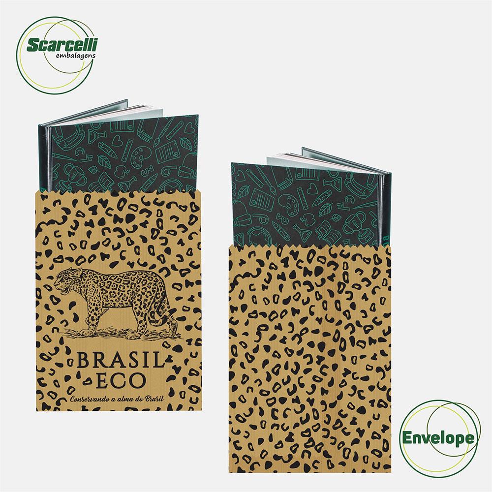 Envelope de Papel Personalizado - Brasil Eco com 500 unidades (26×35 cm)