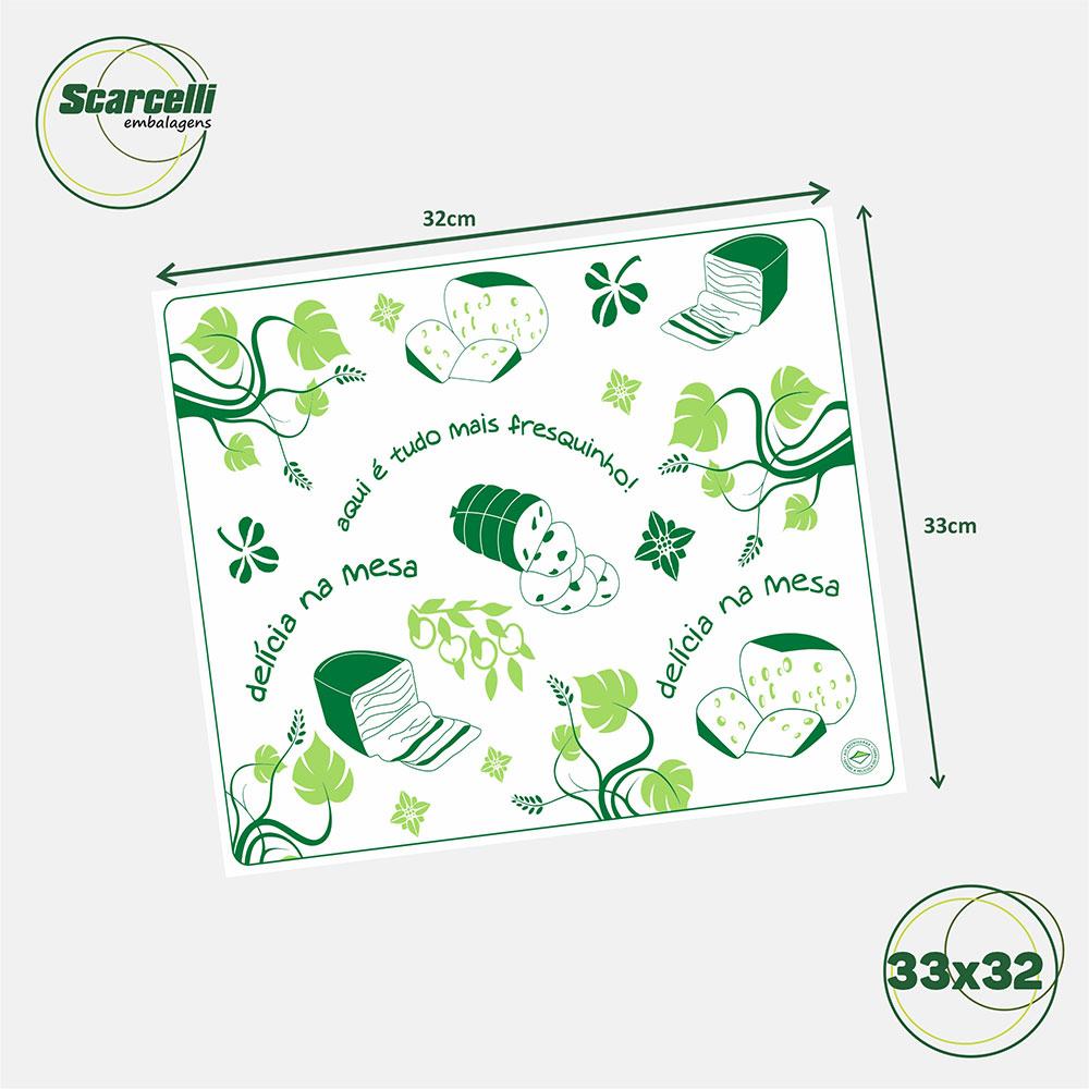 Folha de Papel Acoplado para Frios N° 01 - 33x32cm - 1.000 folhas