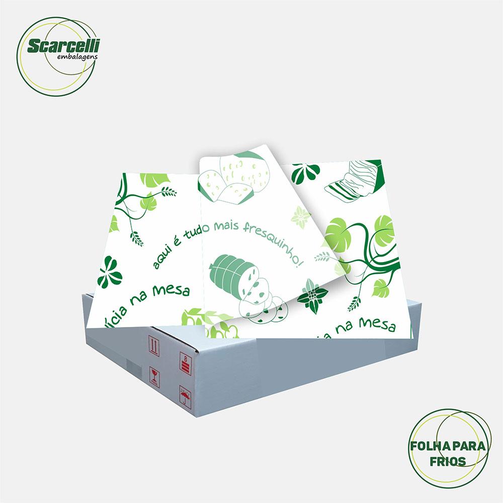 Folha de Papel Acoplado para Frios - N° 02 - 33x38cm - 1.000 folhas