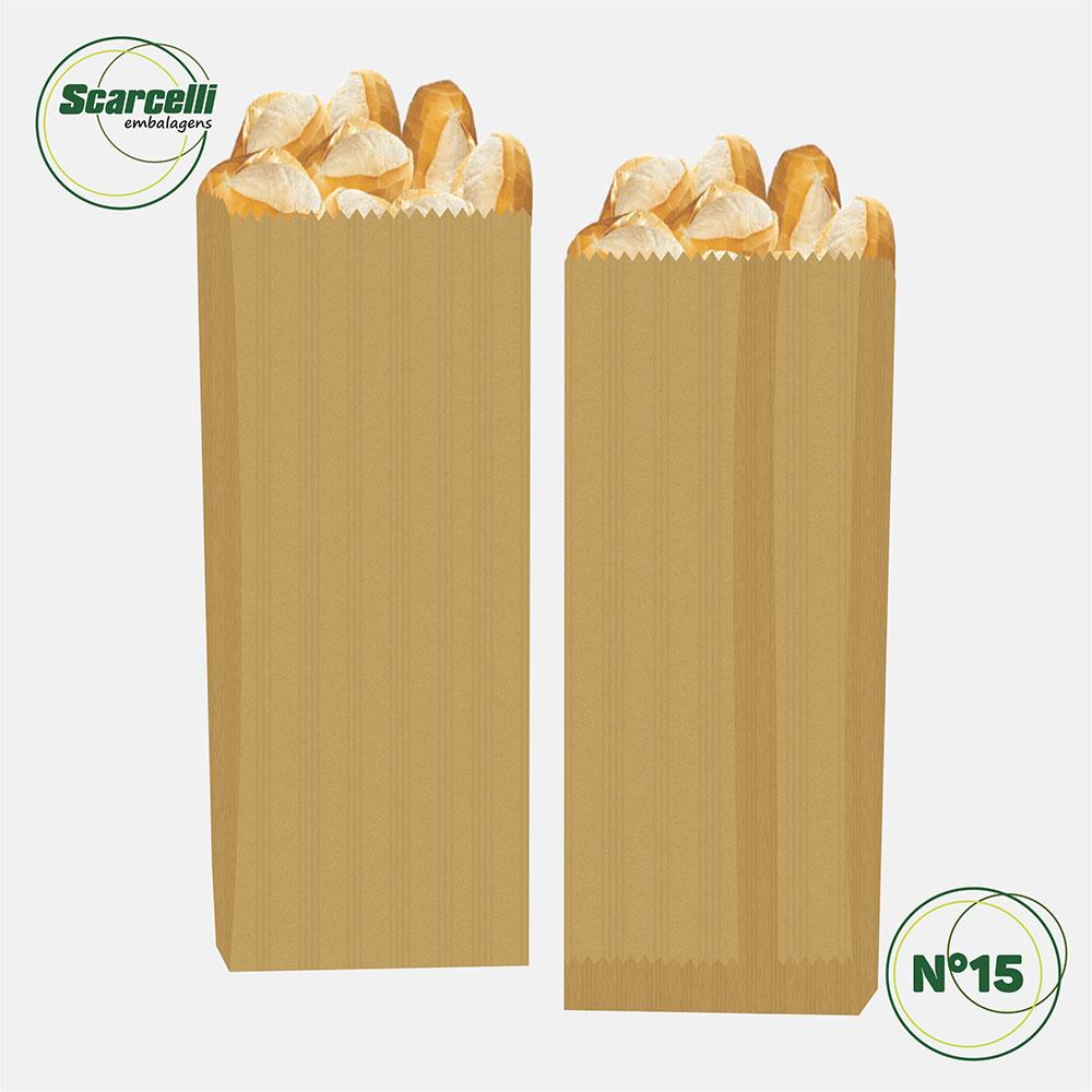 Saco de Papel Kraft Pardo Nº15 - 500 unidades