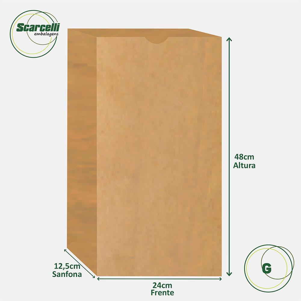 Saco de papel SOS Empacotamento G -500 unidades