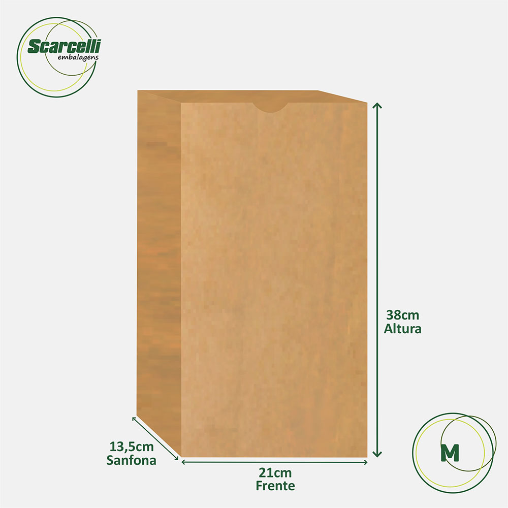 Saco de papel SOS Empacotamento M - 500 unidades