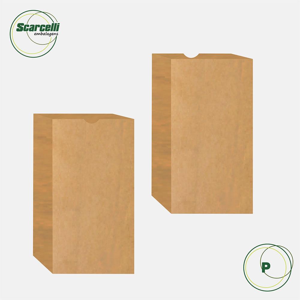 Saco de papel SOS Empacotamento P - 500 unidades