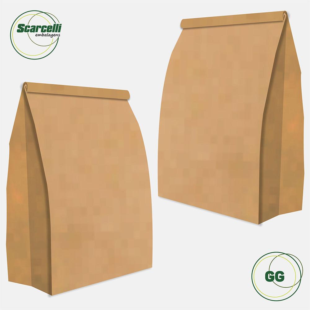 Saco Kraft Delivery GG - 100 unidades