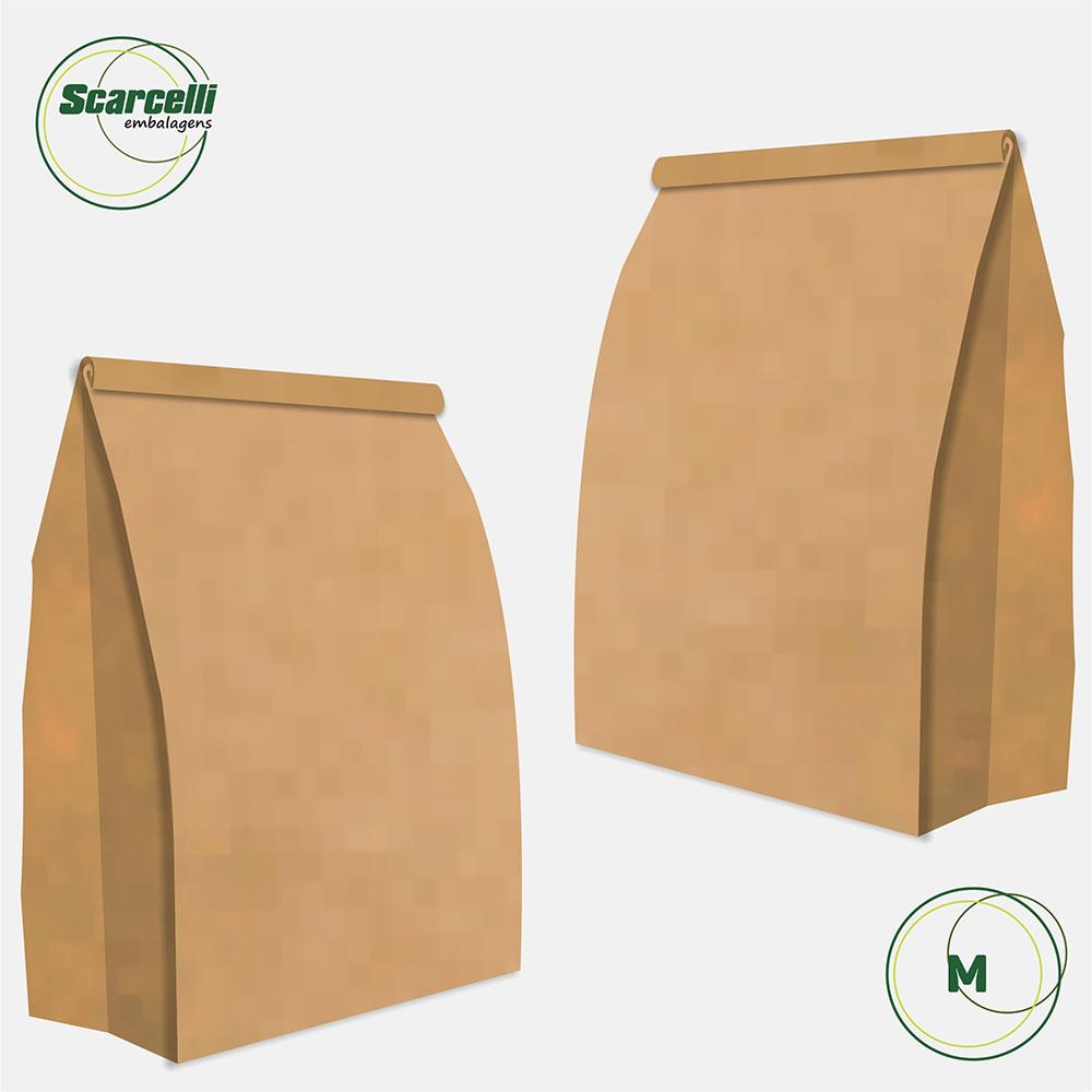 Saco Kraft Delivery M - 100 unidades