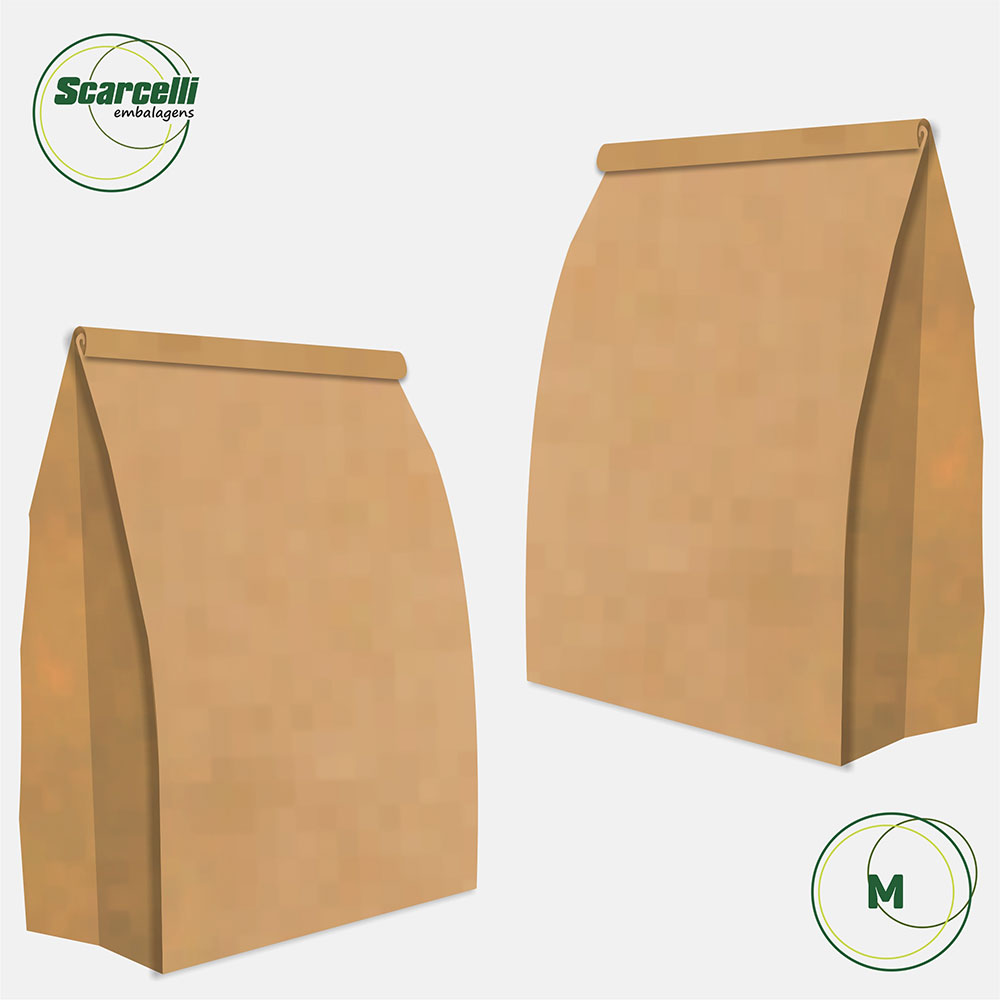 Saco Kraft Delivery M - 500 unidades