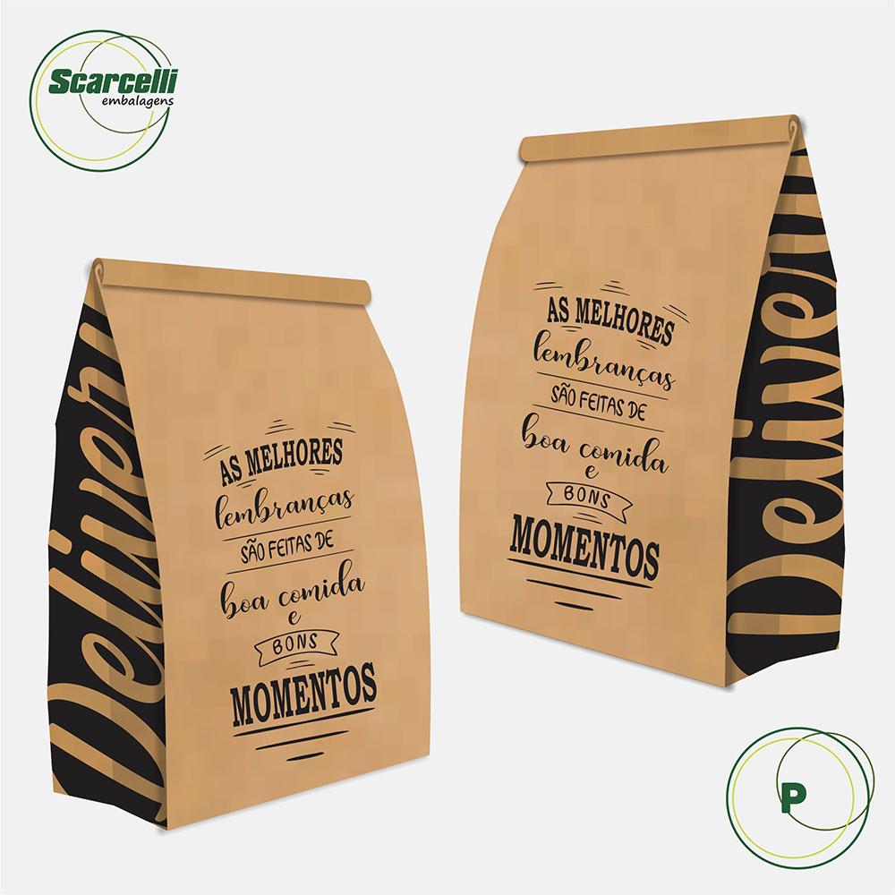 Saco Kraft Delivery P - As melhores Lembranças (mod 04) - 100 unidades