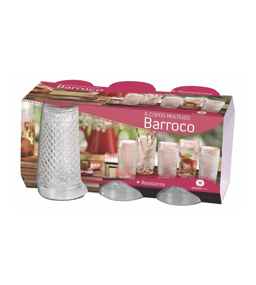 CJ COPO BARROCO 6PC BCO 2407