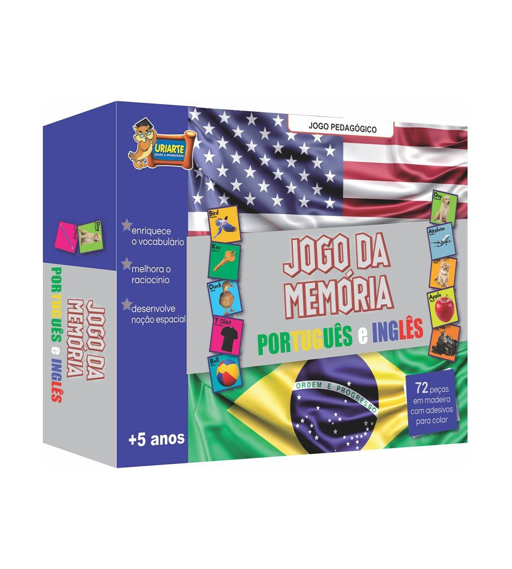 JOGO DA MEMORIA MAD.PORT/INGLES 72P 3669