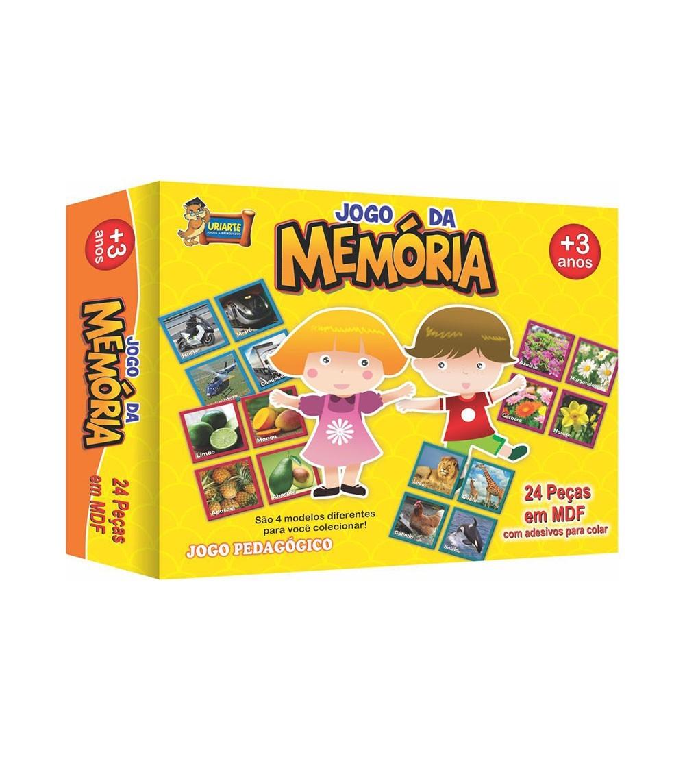 JOGO DA MEMORIA MADEIRA 24PC 3581