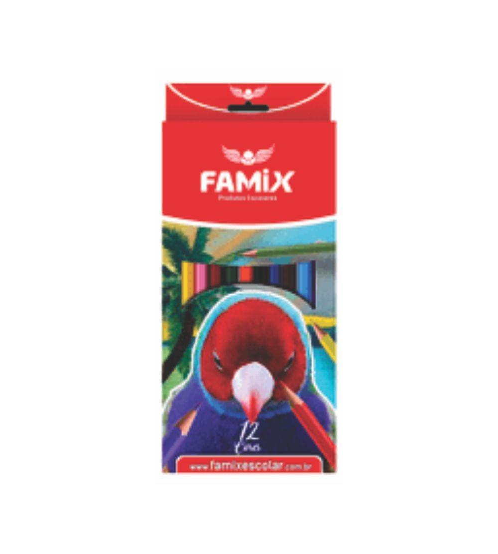 LAPIS 12 CORES RED.FAMIX 12X1 FLC002