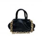 Bolsa Pequena Feminina Blogueira Estilo Plissada Corrente Moda