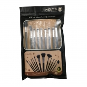 Meily's Kit com 12 Pincéis Maquiagem Profissional By Ruby's