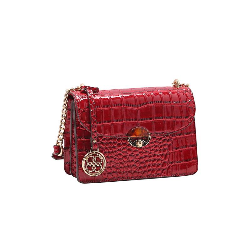 Bolsa Feminina Chenson Croco Pequena Gliter Transversal CG83193
