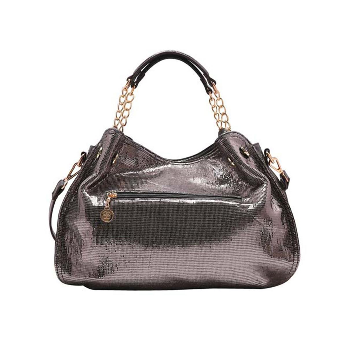 Bolsa Feminina Chenson Metalizado Glam Chique