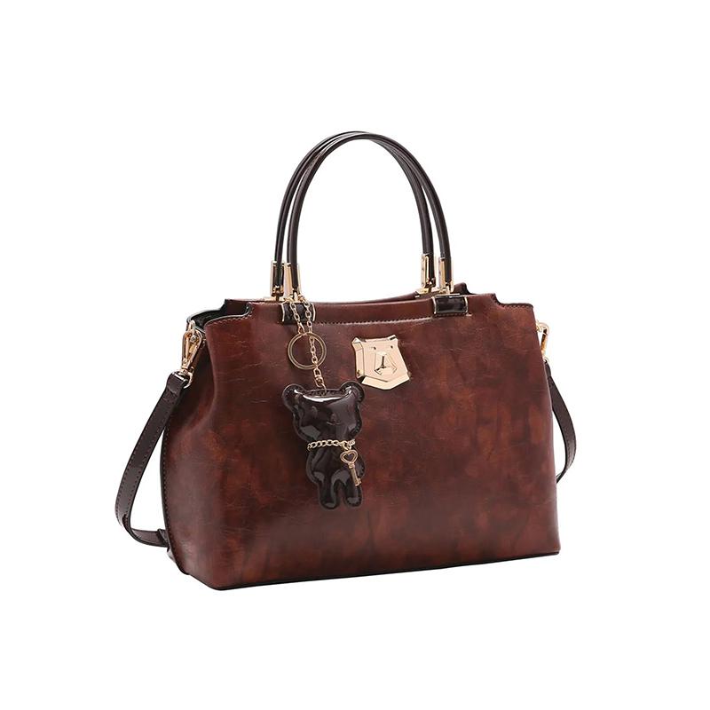 Bolsa Feminina Chenson Metalizado Urso de Mão CG83265