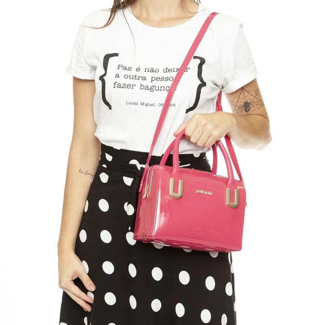Bolsa Feminina Petite Jolie Lana Mão e Transversal PJ10169