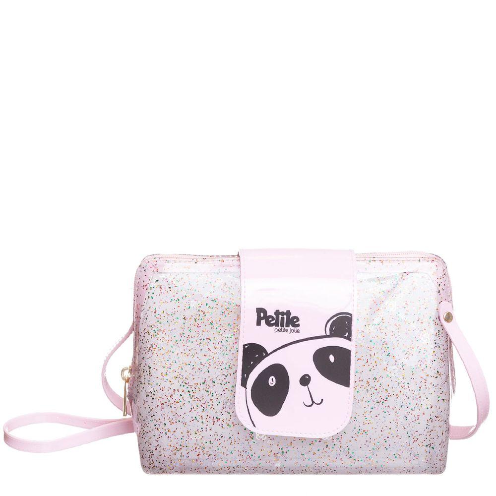 Bolsa Infantil Menina Criança Petite Jolie Glitter Panda