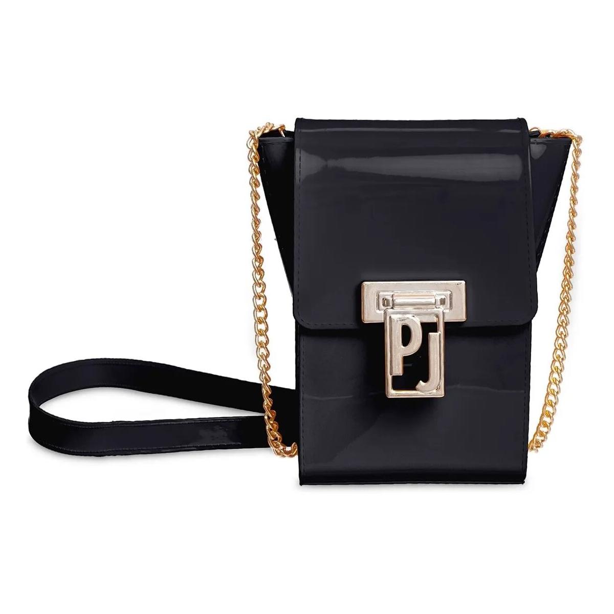 Bolsa Pequena Petite Jolie Moda Compacta Alça Corrente