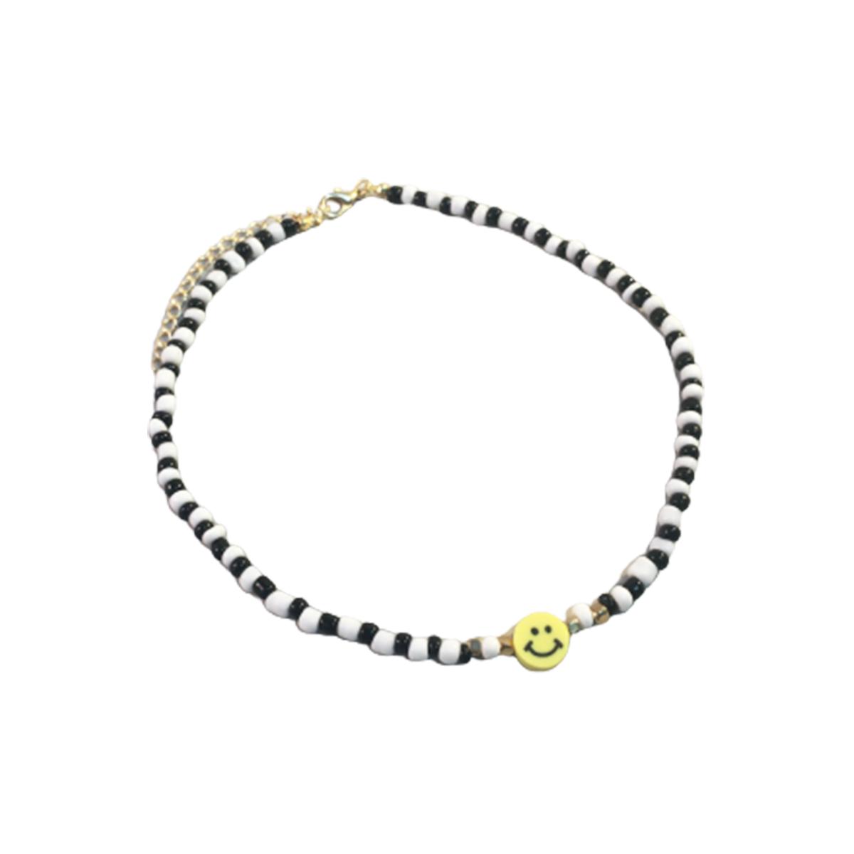 Chocker Feminino Gargantilha Smile Miçangas Com Extensor