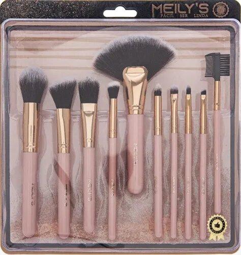 Kit 10 Pincéis Meily´s Maquiagem Profissional MKP-607A