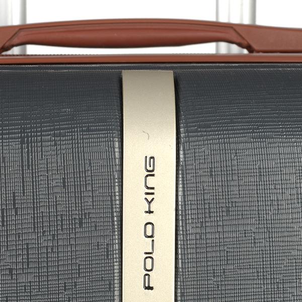 Kit 3 Malas de Viagem Polo King Georgia ABS Resistente Cadeado