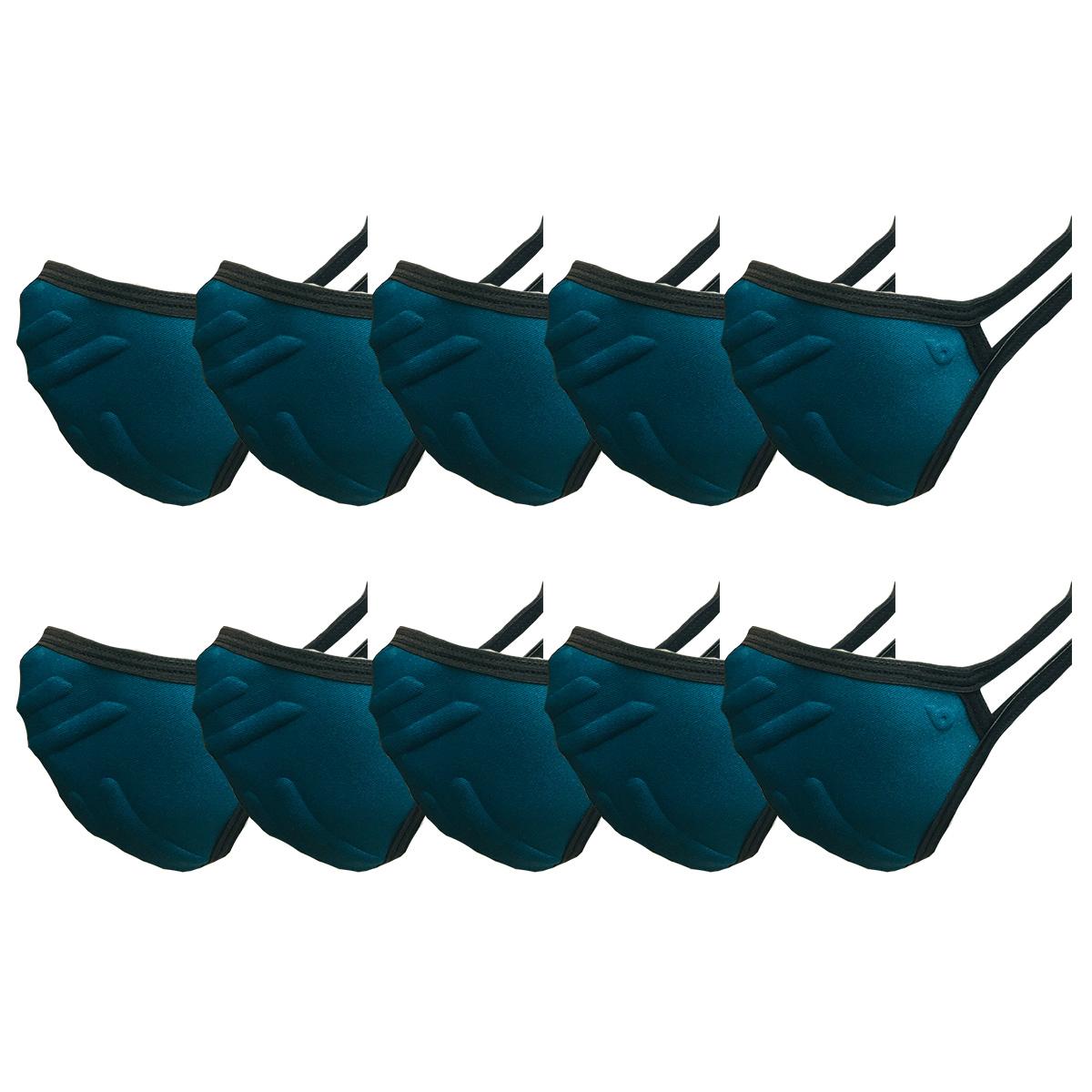Máscara Antiviral Kit 10 Unidades Unissex Lavável