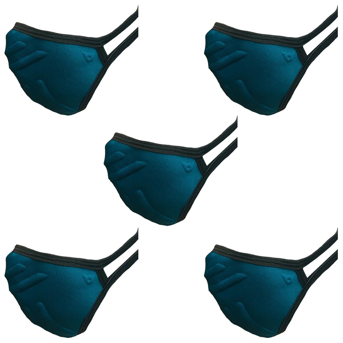 Máscara de Proteção Antiviral com 5 Unidades Reutilizável