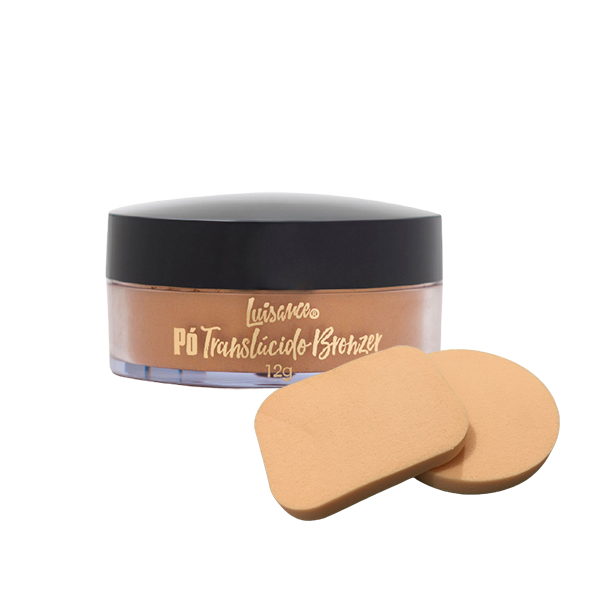 Pó Translúcido Bronzer Luisance Maquiagem Brinde Esponja
