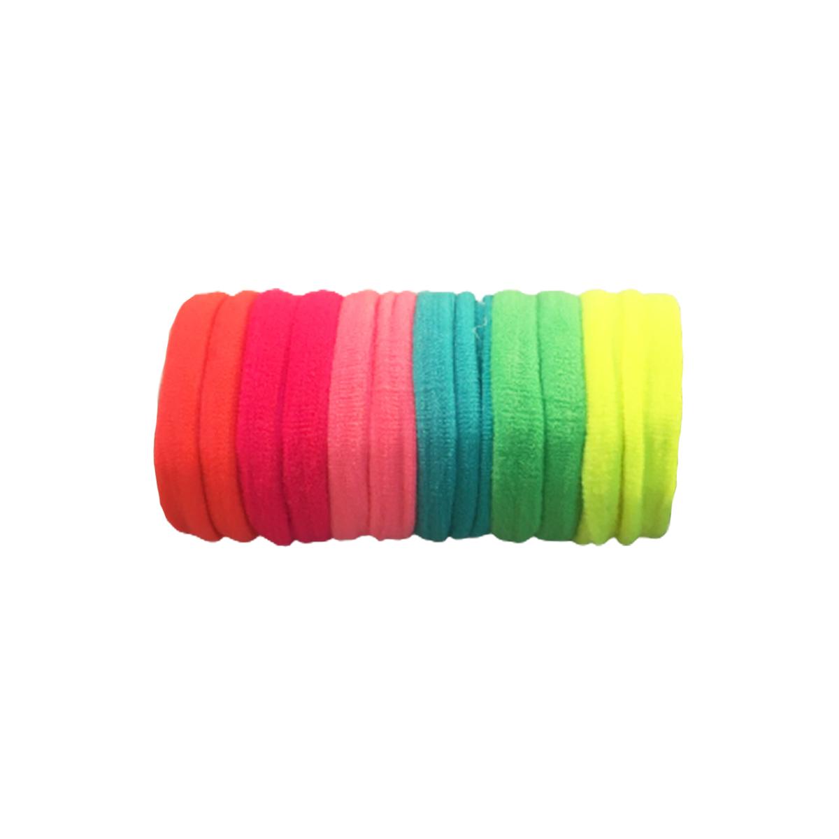 Xuxinha Elástico Rábico De Cabelo Colorida 144 Unidades