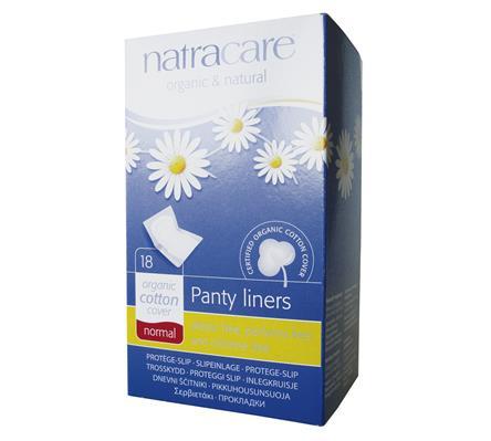 Absorvente diário orgânico sem abas Natracare Normal com 18 absorventes