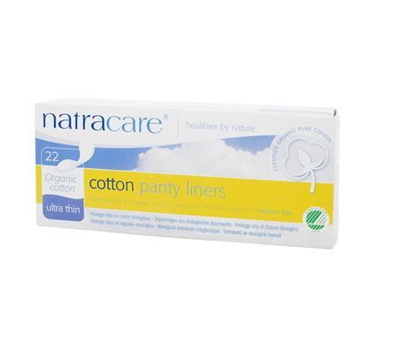 Absorvente diário orgânico sem abas Natracare Ultrafino com 22 absorventes