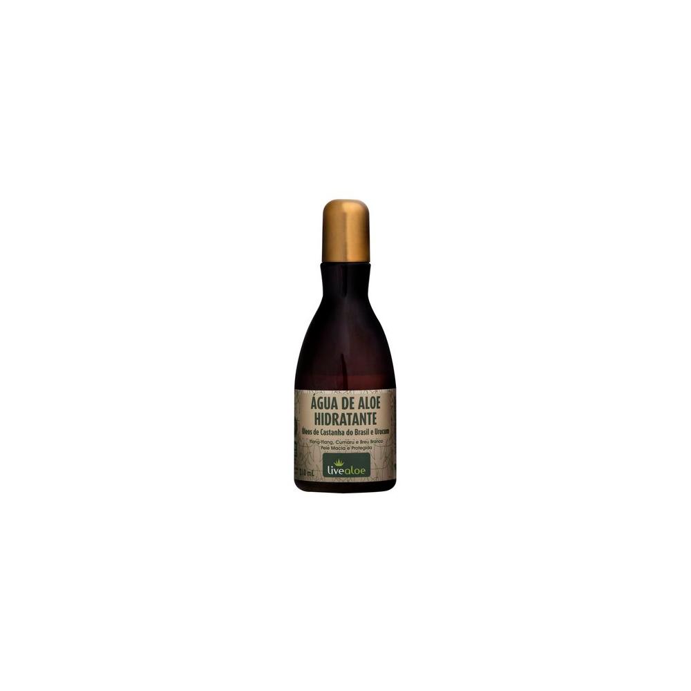 Água de Aloe Vera Hidratante Corporal Natural e Vegana Livealoe 210 ml