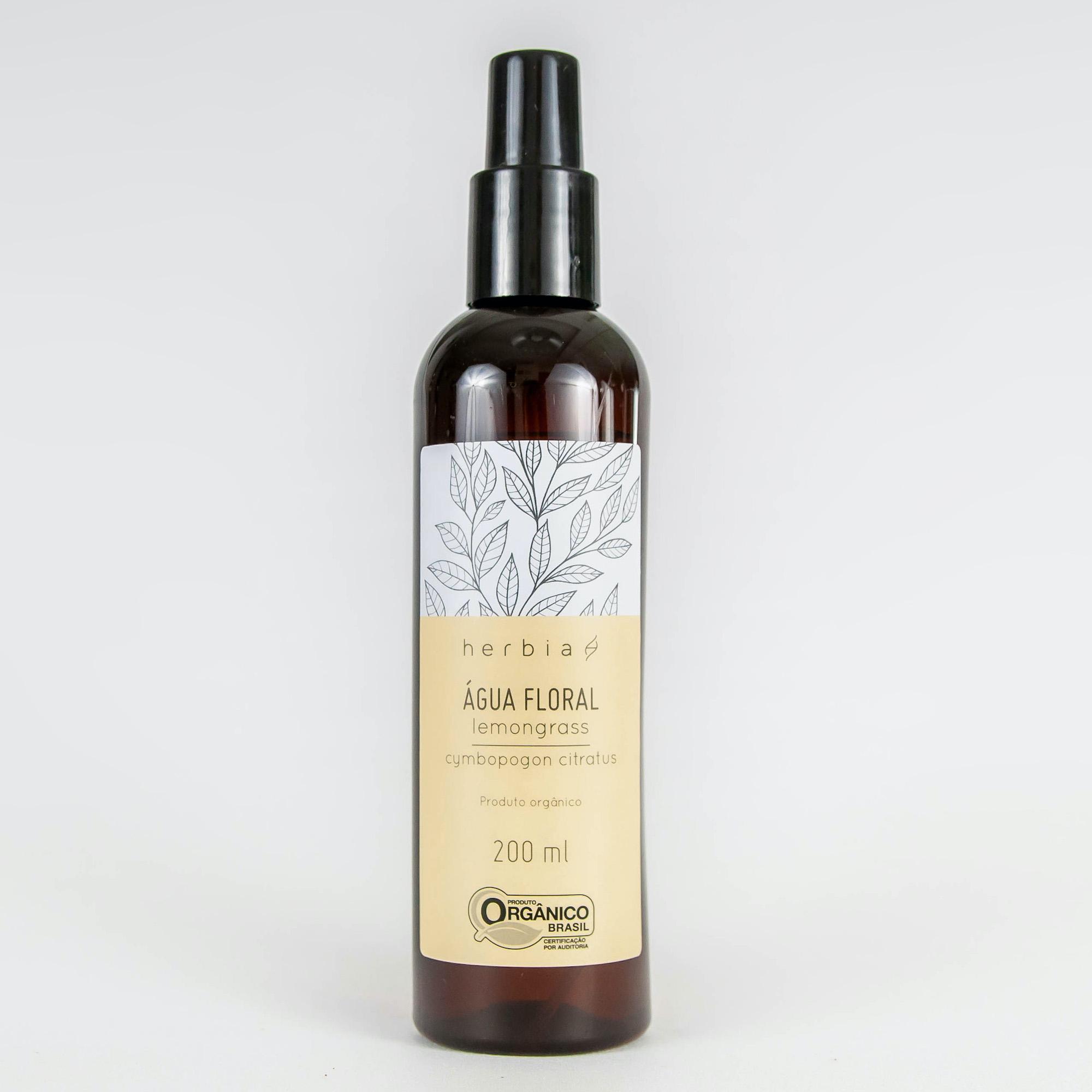 Água Floral Orgânica Herbia de Lemongrass 200 ml