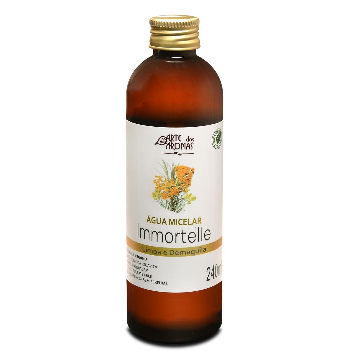 Água Micelar Natural e Vegana Immortelle Arte dos Aromas 240 ml