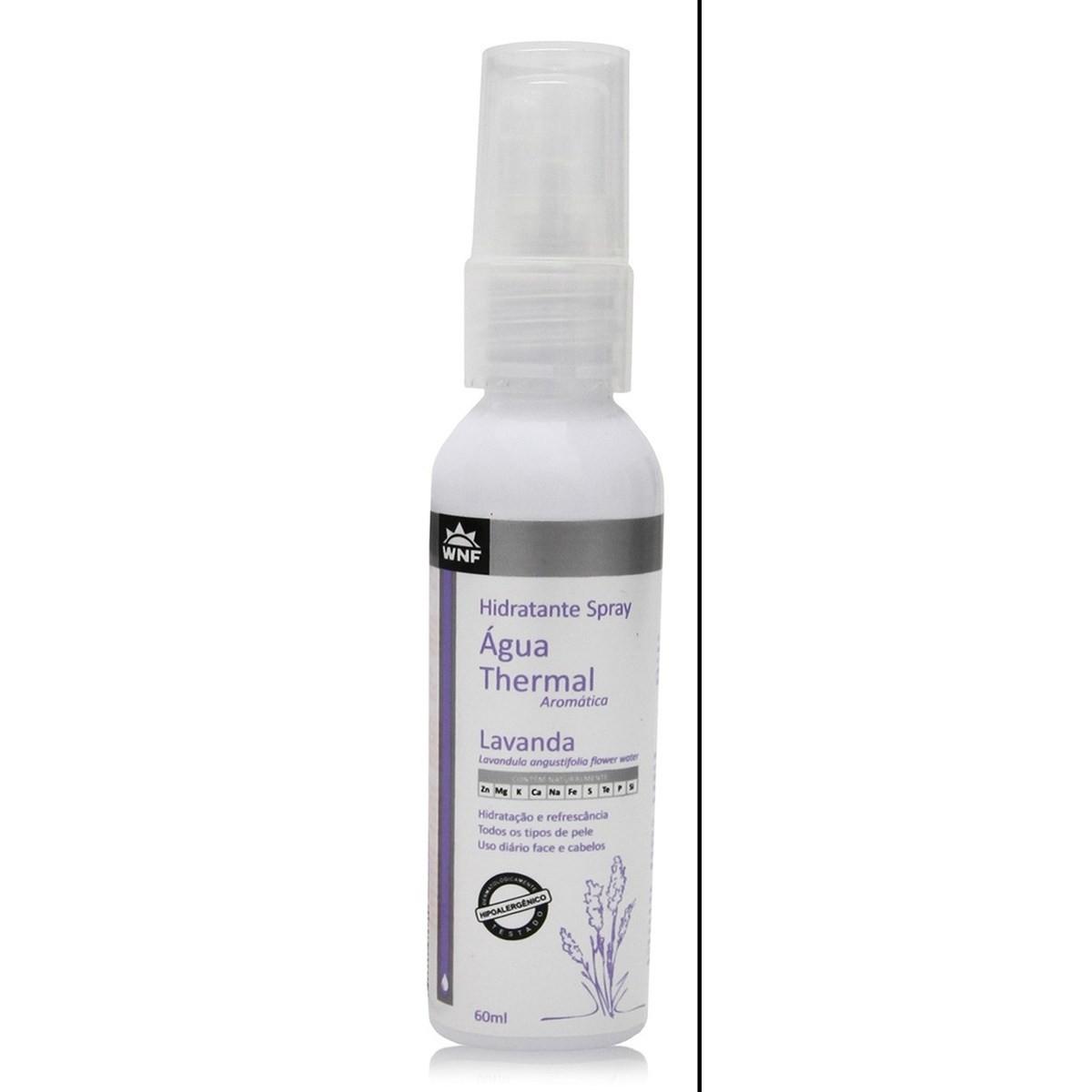 Água Thermal Natural e Vegana Lavanda WNF 60 ml