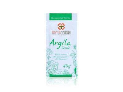 Argila Orgânica Terramater Verde Antioleosidade 40g