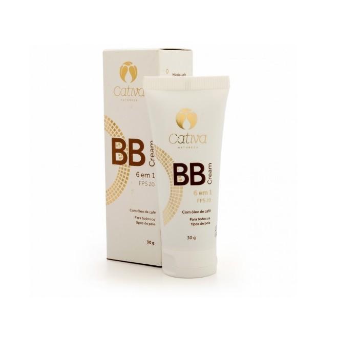 BB Cream 6 em 1 Natural e Vegano Cativa FPS 20 Cor 1- 30 ml
