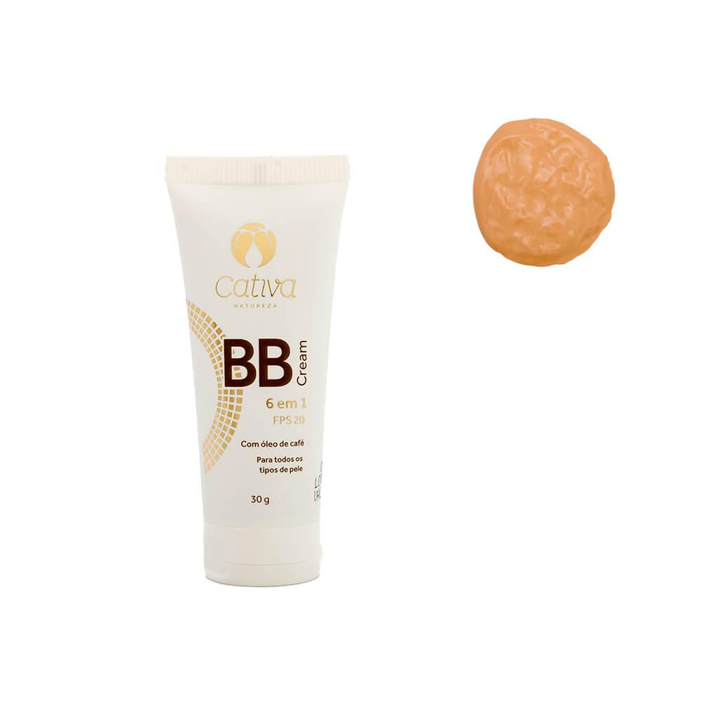 BB Cream 6 em 1 Natural e Vegano Cativa FPS 20 Cor 2- 30 ml