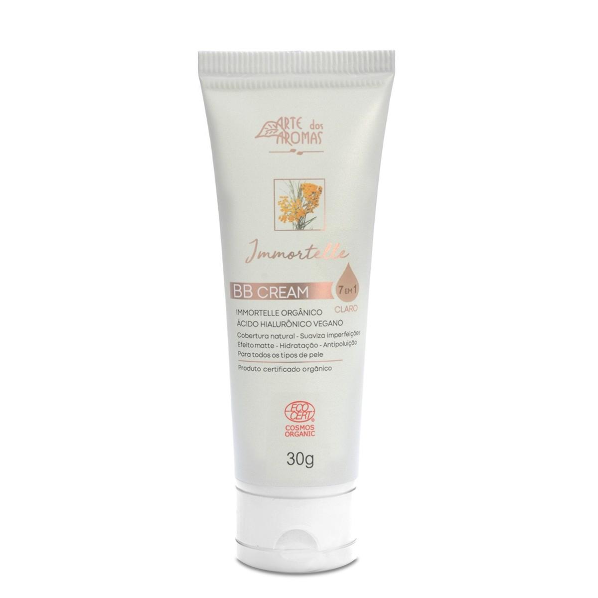 BB Cream Immortelle Natural e Vegano Arte dos Aromas Cor Clara 30g