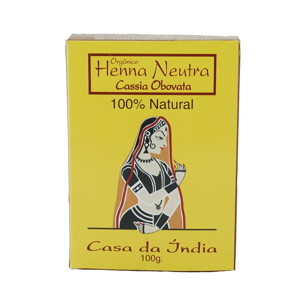 Cassia Obovata Natural e Vegana - Henna Neutra Casa da Índia 100g
