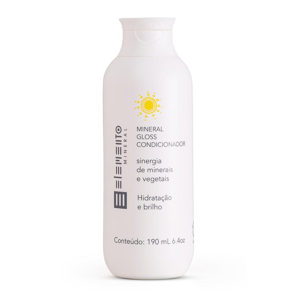 Condicionador Natural e Vegano Mineral Gloss Elemento Mineral 190ml