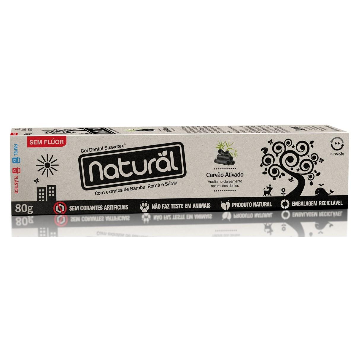 Creme Dental Natural e Vegano Com Carvão Ativado Natural 80 g