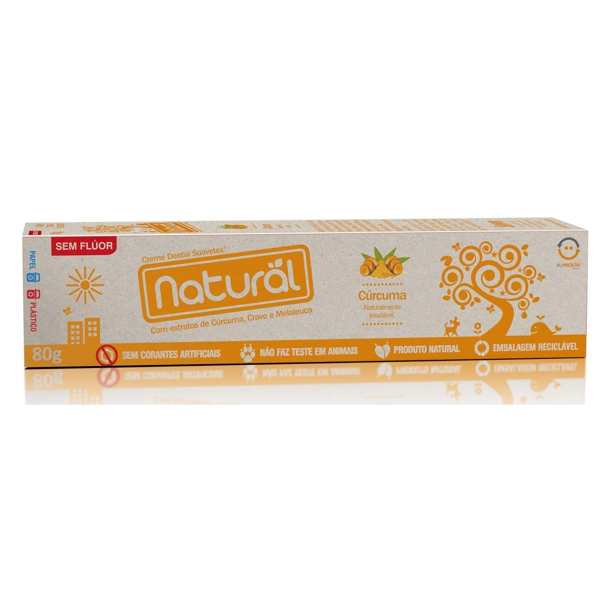 Creme Dental Natural e Vegano com Cúrcuma Natural 80 g