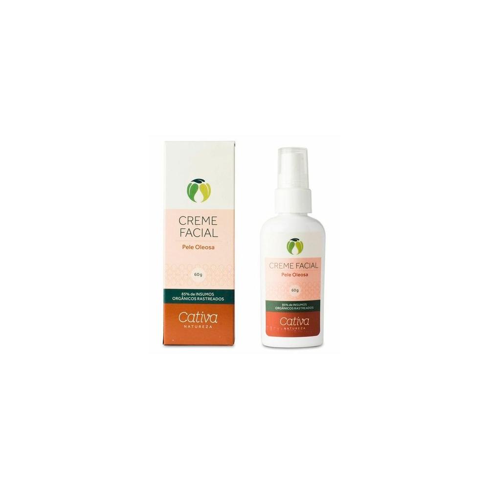 Creme Facial para Peles Oleosas Natural e Vegano Cativa Natureza 60 g
