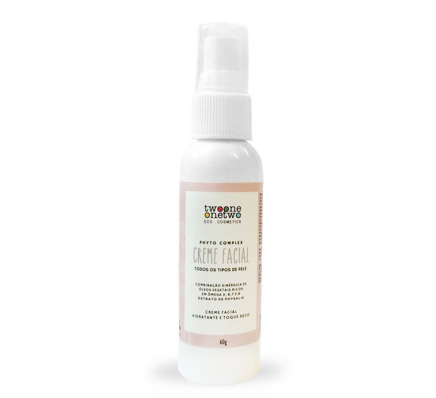 Creme Hidratante Facial Natural e Vegano com Ômegas e Physalis 60 ml