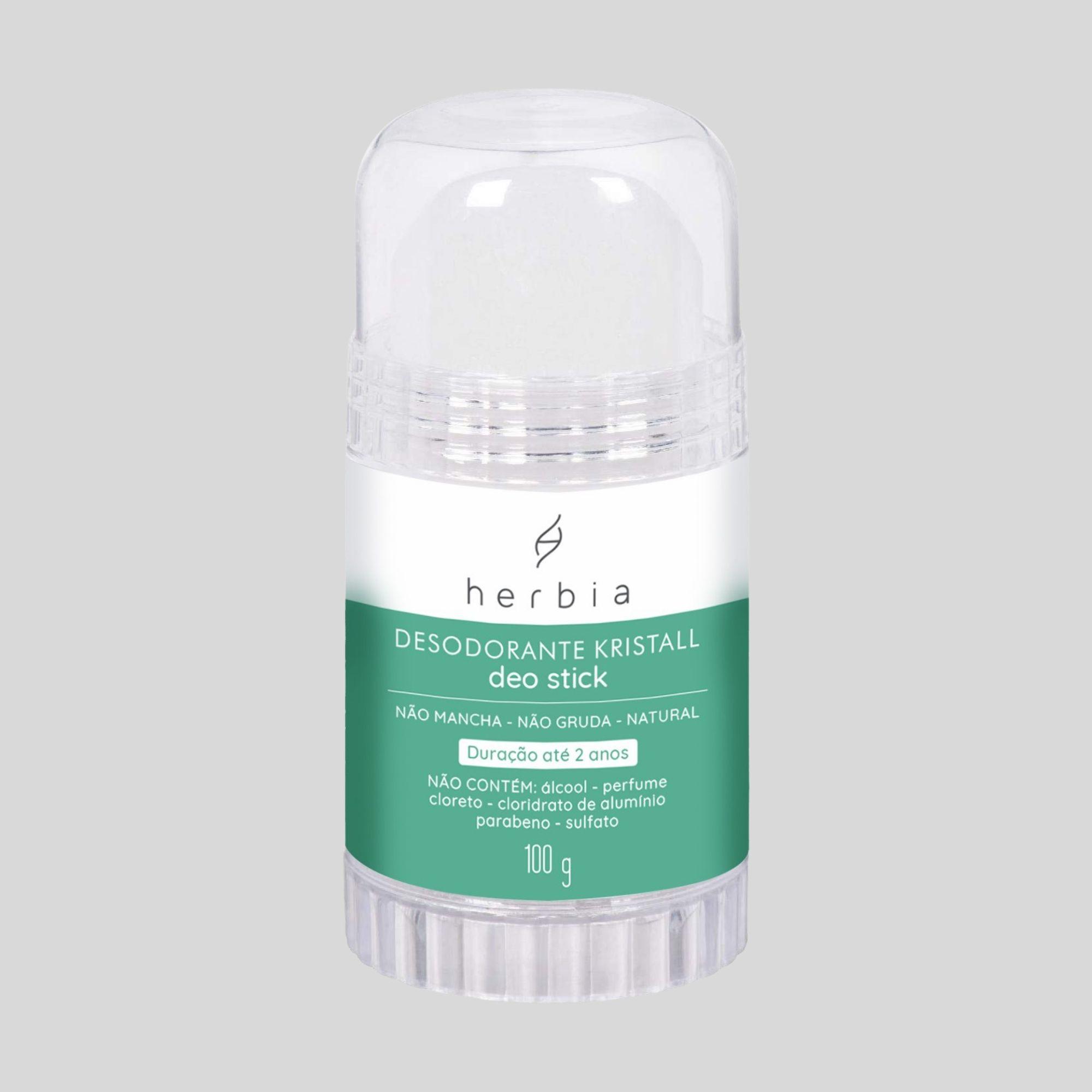 Desodorante Kristall Deo Stick Natural e Vegano Herbia 100g