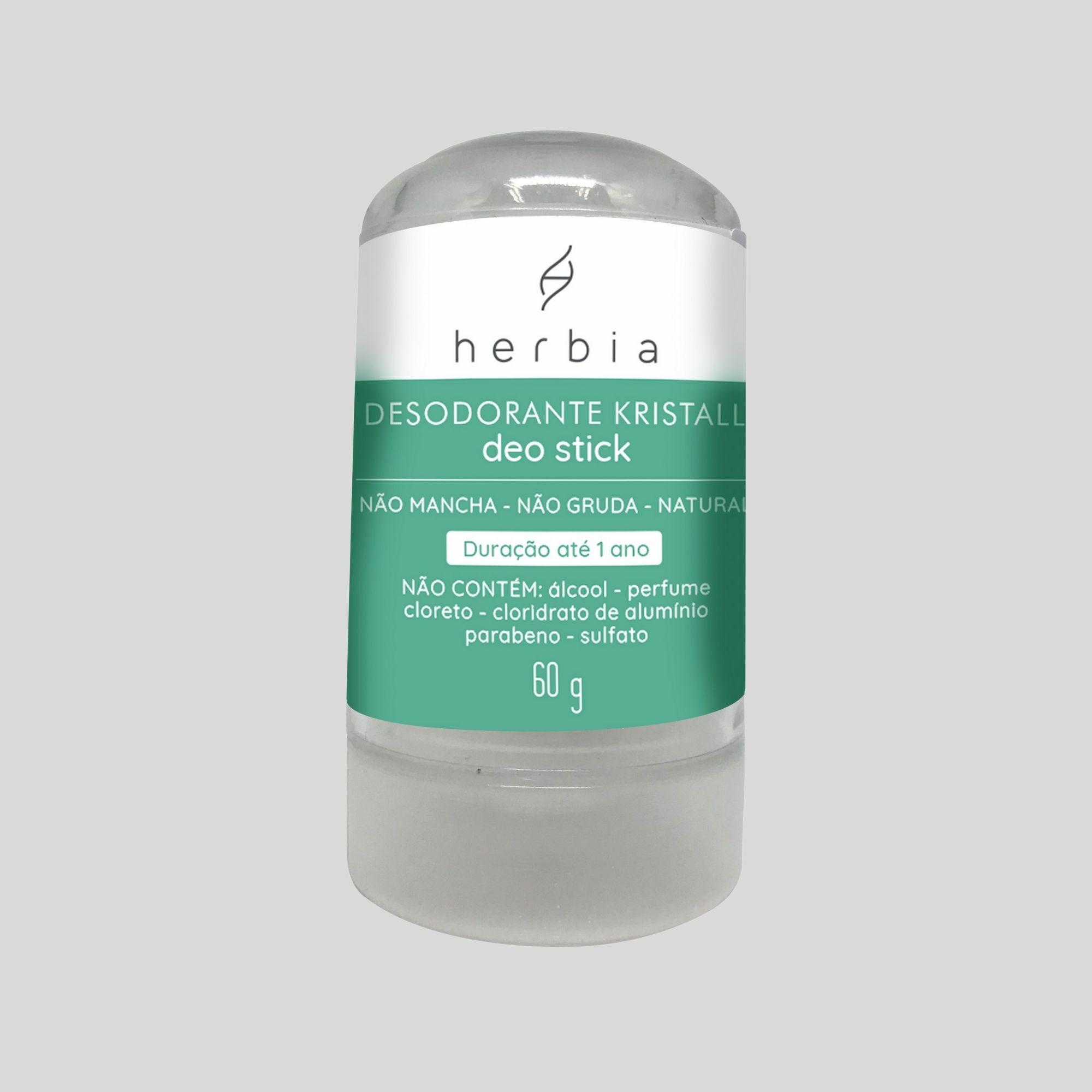 Desodorante Kristall Deo Stick Natural e Vegano Herbia 60g