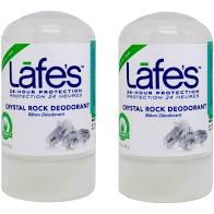 Desodorante Natural Cristal Mini Lafes Sem Perfume 63g - 2u